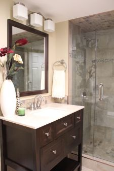 Empty basement space to a small beautiful bathroom