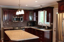 Reconfigured Kitchen with New Island