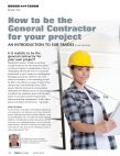 How to be the General Contractor for your project - An introduction to Sub-Trades