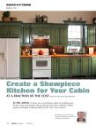 Create a showpiece kitchen for your cabin