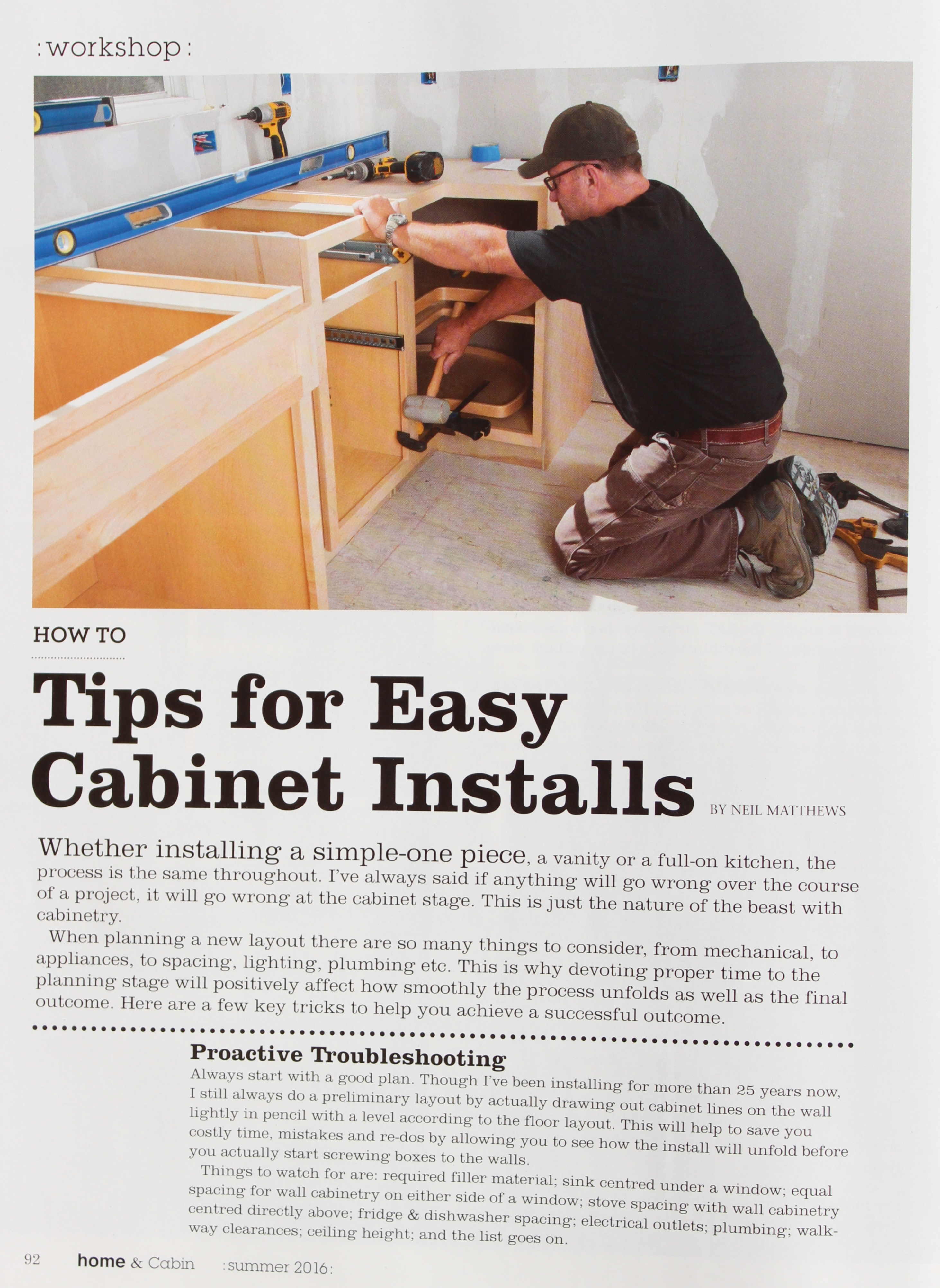Tips For Easy Cabinet Installs