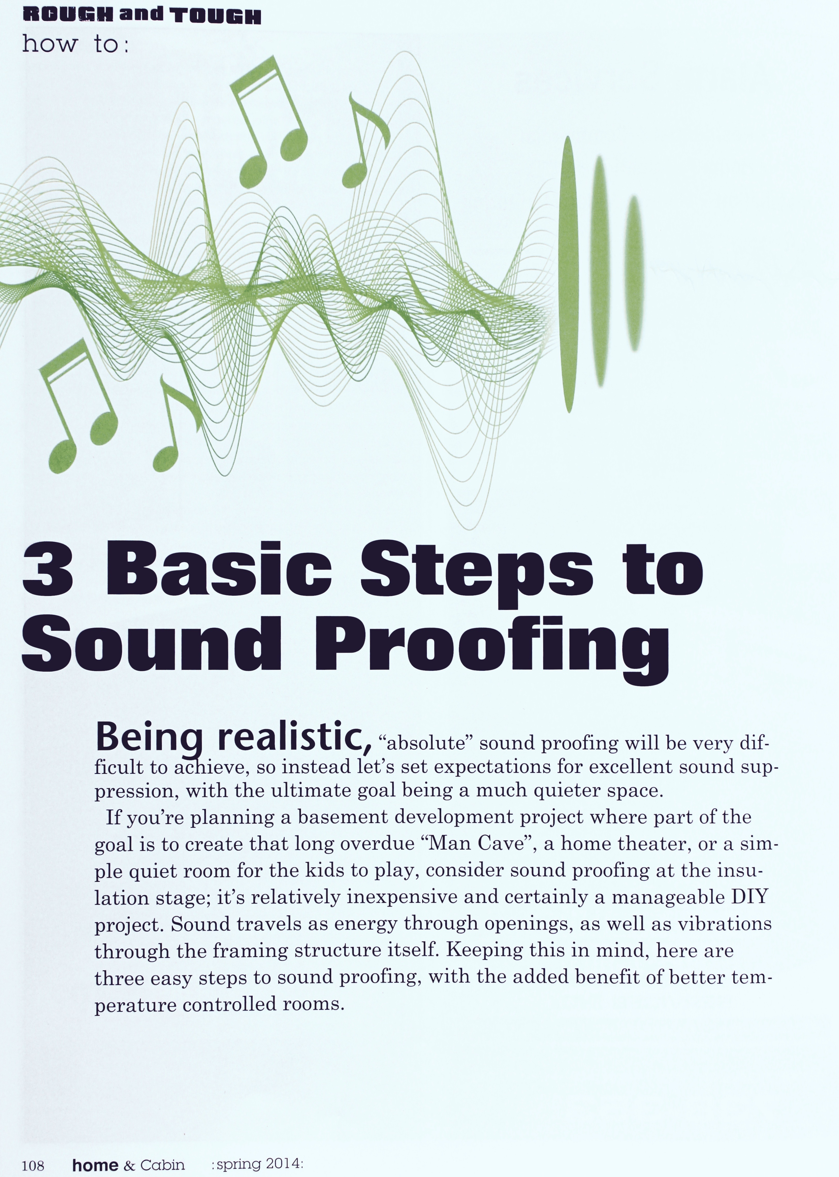 3 Basic Steps to Sound Proofing