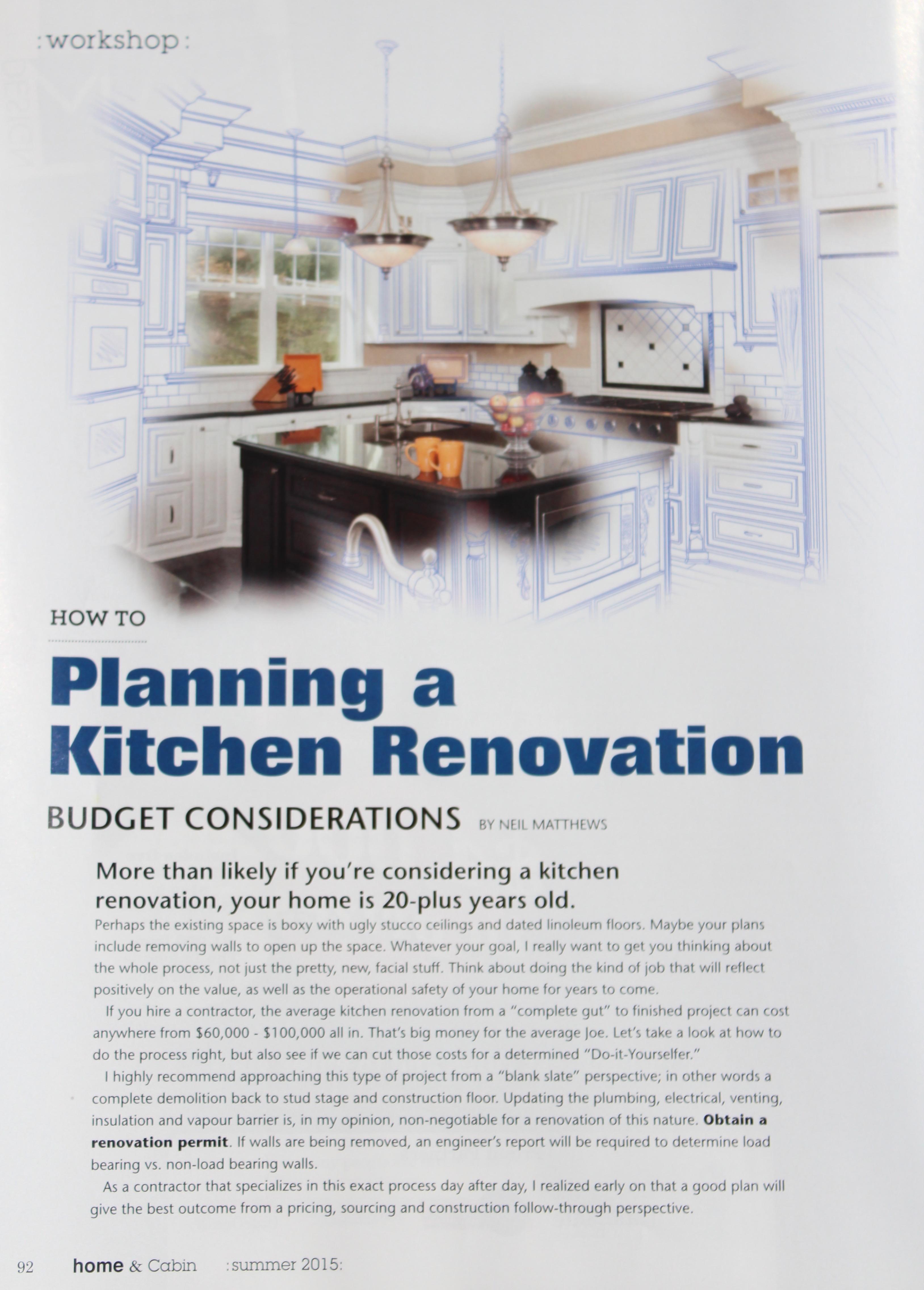 Planning A Kitchen Renovation