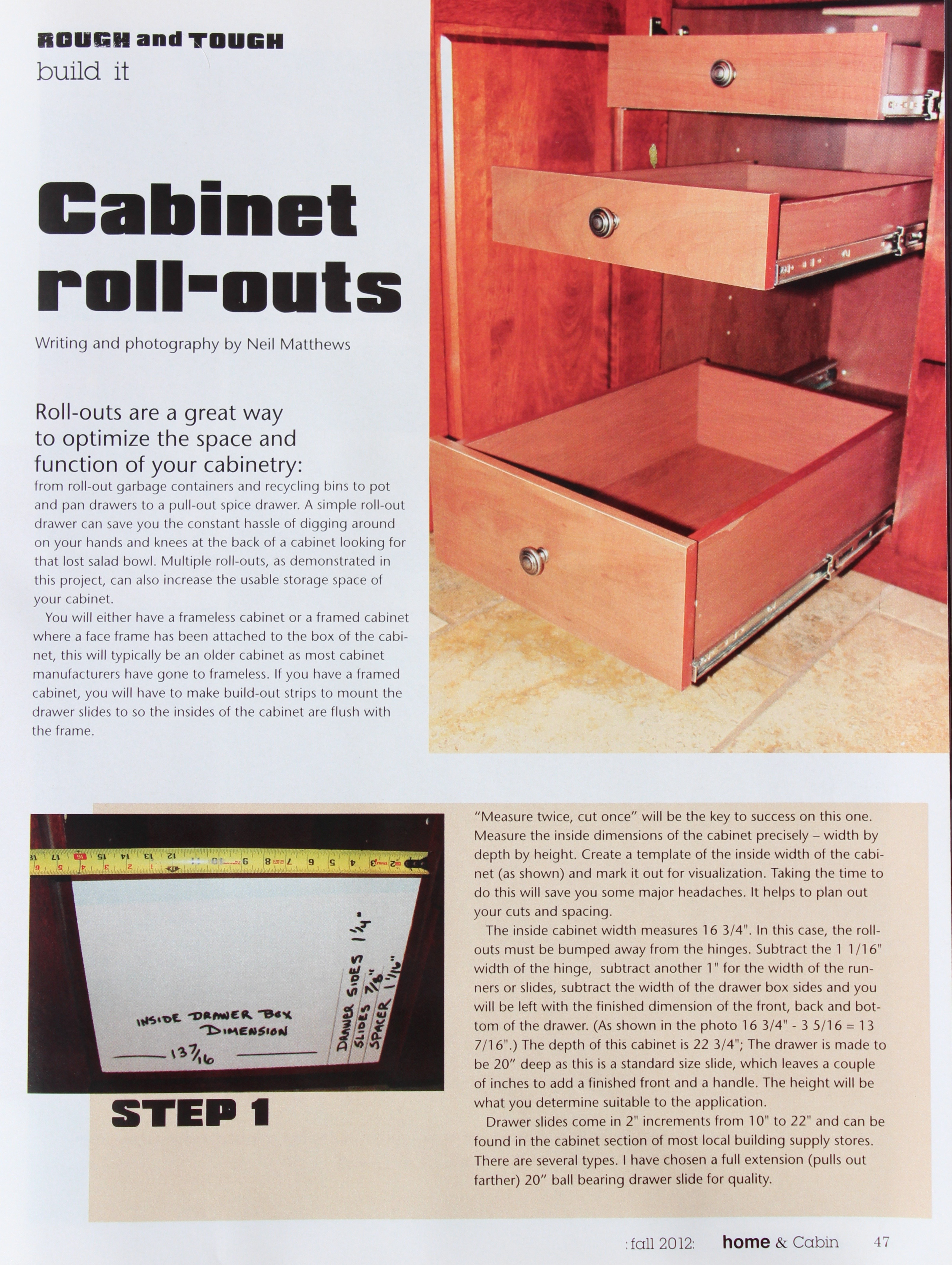 Cabinet Roll-Outs